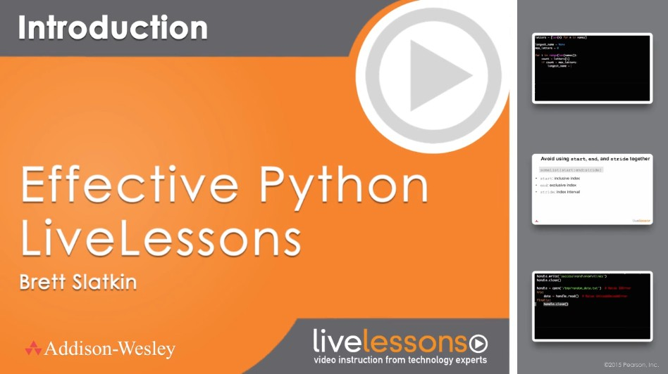 Effective Python Live Lessons